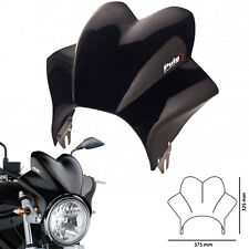 Puig Windscreen for Ducati Monster 1100 Evo 2013 Wave Fly Screen Solid Black