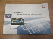 Bedienungsanleitung Betriebsanleitung Audi S6 4B Avant DEUTSCH 2015614B600