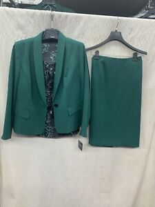 """KASPER SKIRT SUIT/RETAIL$280/LINED/SKIRT LENGTH 25""""/SIZE 12/NEW WITH TAG/GREEN"""