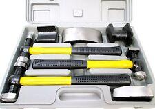 7pc Kit de reparación de PANEL de cuerpo de Auto Set con mango de fibra de vidrio martillos parte de las plataformas AU187