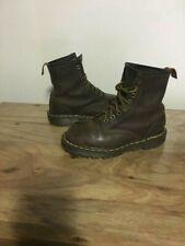 DOC MARTENS AIR CUSHION SOLES CLASSIC BROWN LEATHER WOMENS BOOTS SIZE 4