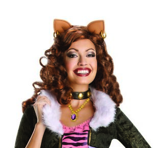 Clawdeen Adults Monster High Wig Official Halloween Fancy Dress Costume Accessor