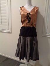 Lanvin vintage beaded sleeveless silk dress SZ 38/4-6 US