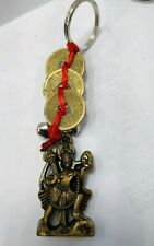 Key chain Small Hanuman ji with coins good luck item Usa Seller