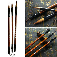 3pcs/set Chinese Calligraphy Brushes Pen Weasel Hair Writing Brush Stationary-