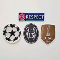 UEFA 2018-19 Patch Set 13 Honour Trophy Respect Real Madrid Bale Benzema Ronaldo