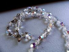 """Crystal Facet Bead Choker Necklace ST 14"""""""