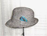 Dobbs Fifth Avenue New York Vintage Gray Tweed Fedora Hat Size 7