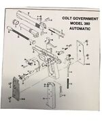 Exploded View Colt Government Model 380 Automatic