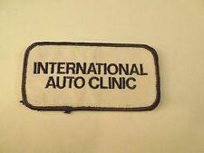 Vintage International Auto Clinic Logo Company Patch