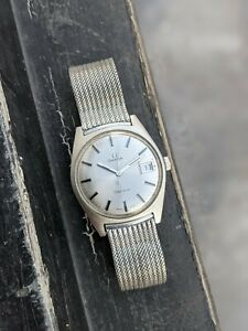 Omega Geneve 135.041 Mechanical Tonneau with Rare Milanese Bracelet From 1970
