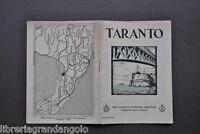 Brossura Turismo Guida Ferrovie Treni Puglia Taranto Ponte Girevole 1930