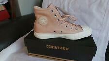 BRAND NEW in box Converse All Star Leather Hi trainers Size 4 EU 36.5 Dusk Pink
