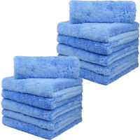 12 Pcs Premium Plush Microfiber Towel Professional car Wash Drying Cleaning