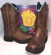Justin Womens Size 7 Gypsy Jaguar Brown Leather Stitched Boots Cowboy Western