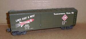 "> K Line O Gauge Trains .. (T.P. & W.) Transcontinental Peoria Way Box Car #608"""