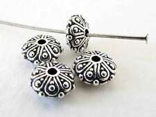 TierraCast Oasis Metal Bead Antiqued Silver Ox Bali Rondelle Spacer Finding 8mm