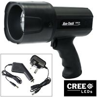 12W RECHARGEABLE CREE LED SPOTLIGHT TORCH LI-ION BATTERY 720 LUMEN 10 YEAR WARR.