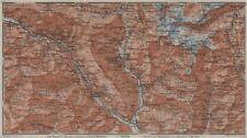 MONTE DI SOBRIO LEVENTINA BLENIO TICINO. San Bernardino Olivone Faido 1928 map