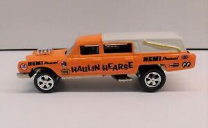 Johnny Lightning 1997 Fright'ning Lightnings Haulin Hearse Cadillac HEMI orange