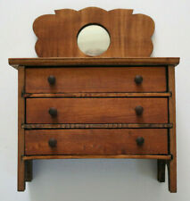 Vintage Dresser Wooden Miniature Dollhouse Furniture