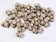 Pack De 40 Acrílico imitación Bambú Beads-Beige - 10 X 7 Mm............. B1932 *