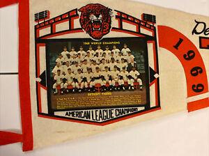 Vintage 1968 American League/World Champions pennant Detroit Tigers 1969