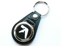 APHEX TWIN White Design Techno Dance Music Quality Leather and Chrome Keyring
