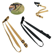 Adjustable 2 Two Point Bungee Rifle Gun Sling Strap Tactical Hunting Tan Nylon