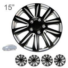 "FOR NISSAN NEW 15"" ABS BLACK RIM LUG STEEL WHEEL HUBCAPS COVER 546"