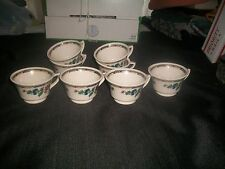 VTG  SYRACUSE CHINA* DEWITT CLINTON*BIRD OF PARADISE PATTERN CUPS LOT OF EIGHT