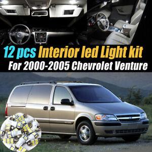 12Pc Super White Car Interior LED Light Bulb Kit for 2000-2005 Chevrolet Venture