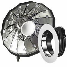 60cm Silver Folding Beauty Dish / Softbox to fit Profoto Studio Flash