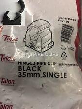 Bolsa 50-Talon 35 mm con Bisagras MDPE Clip de Pipa de Agua (32-35 MM) Negro Enclavamiento