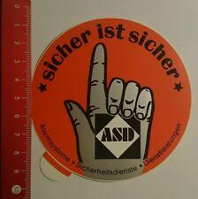 Autocollant/sticker: ASD est sûr sûr (17081663)