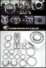 2010-12 Pre-Facelift MINI R60 Countryman Chrome Interior Dial Dash Trim Kit 31pc