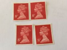 Timbres rouge avec 8 timbres