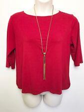 MELA PURDIE magenta red short sleeve top sz 20