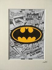 Batman - DC Comics - Logo - Hand Drawn & Hand Painted Cel