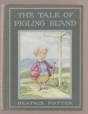 VG 1941 old RARE HC Paste-on EARLY Edition Tale Pigling Bland Beatrix Potter