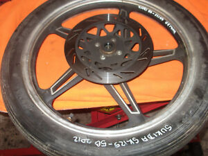 SUKIDA SK125 -5B 2012 FRONT WHEEL WITH  TYRE.