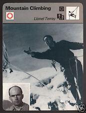 LIONEL TERRAY Mountain Climbing Photo Les Etoiles du Midi 1978 SPORTSCASTER CARD