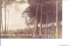 RPPC AKELEY MN 1935 Scene On The 9th Lake of The Crow Wing Chain VINTAGE GEM+++
