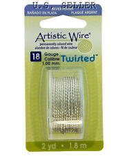 18ga Artistic Wire Twisted Silver Plated NonTarnish Wire 6 Foot