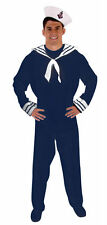 ADULT BLUE SAILOR MAN HALLOWEEN PARTY NAVY FANCY DRESS COSTUME 1SIZE HB GENTS
