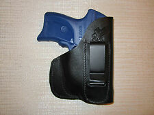 Ruger LC9 with laser,Kahr PM, CM & CW, IWB & POCKET leather holster, right hand