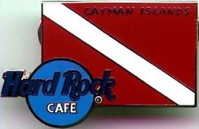 Hard Rock Cafe CAYMAN ISLANDS 2000 Red/White DIVING FLAG PIN Diver Down HRC 1732