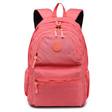 Boys Girls School Large Backpack Travel Rucksack Should Laptop Cross Body Bag Pink