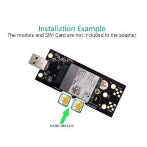 NGFF(M.2) to USB 3.0 Adapter with Dual NANO SIM card Slot for 3G/4G/5G Module