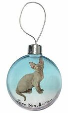 Devon Rex Kitten 'Love You Mum' Christmas Tree Bauble Decoration Gi, AC-175lymCB